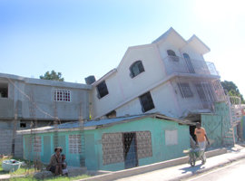 A demolished home near the airport in Port-au-Prince