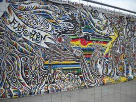 "A photo of the Berlin Wall from my trip to Germany.  The word ""frieden"" on the wall can be translated to ""peace"" - something else FLEFF promotes!"