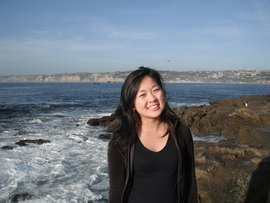 A picture of me in front of a California beach