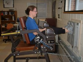 A pressing moment in the biomechanics lab