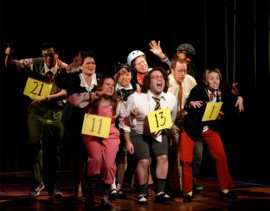 "A scene from Broadway's ""25th Annual Putnam County Spelling Bee,"" costume design by Jennifer Caprio '99. Photo courtesy Jennifer Caprio '99."