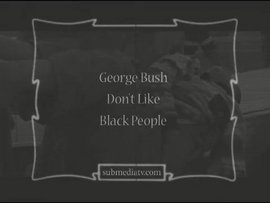 "A screencap from ""George Bush Don't Like Black People"""