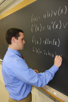 A student blends his passions for mathematics and physics.