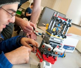 A student in Introduction to Robotics Using Legos. Photo by Allison Usavage '12