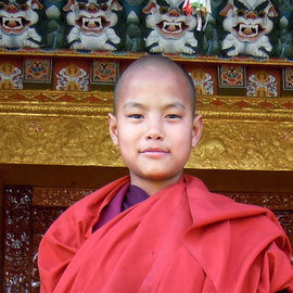 A young nun in Bhutan