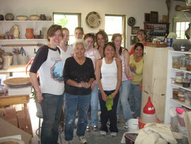 Ada Jacques with IC students from the Service Learning in Native America class