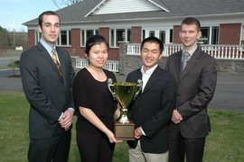 Adirondack Cup team members (left to right) Alex Pelzar, Qingqing Jiang, Aaron Heltsley and Mike Severo.