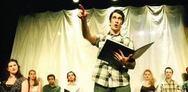 Alex Krasser '09 in rehearsal.