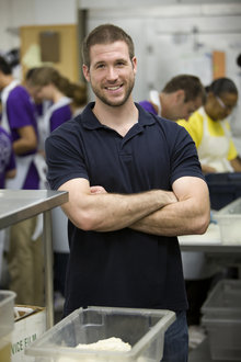 Alex Moore '07 at the D.C. Central Kitchen. Photo by Mark Finkenstaedt
