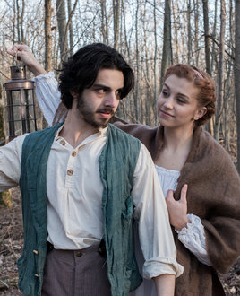 Alex Tortora �14 plays John Proctor and Taylor Misiak �14 plays Abigail Williams in IC Theatre�s production of Arthur Miller�s �The Crucible.""