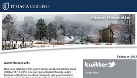 Alumni E-newsletter screen shot