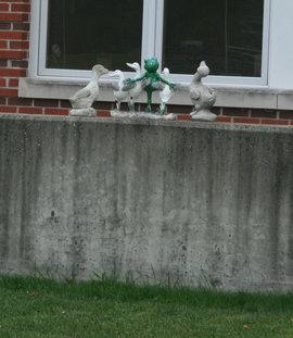 Alumni Hall's Dancing Ducks and Frog