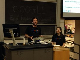 Alumnus working at Google gives a talk to current students