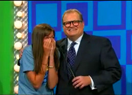 "Alyssa Arminio '09 with Drew Carey, host of the ""Price Is Right"""