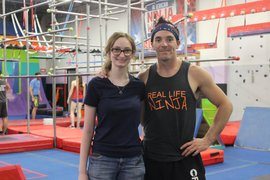 Amy Jacobson and Drew Drechsel at his gym