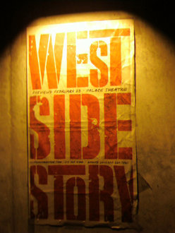 "An ad for ""West Side Story"" starring Matt Cavenaugh '01."
