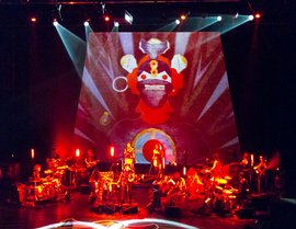 An example of projections being incorporated into a musical performance