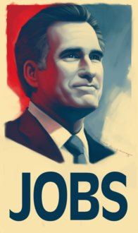 Andrew Redford Young, Poster Promoting Mitt Romney, 2011