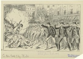 Astor Place Riot, NYC 1849