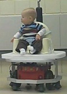 Baby on robot