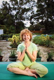 Barbara Newborn at her yoga studio in Florida