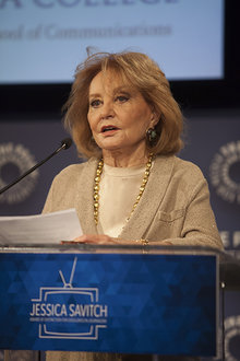 Barbara Walters delivers her acceptance speech. Photo by Francine Daveta