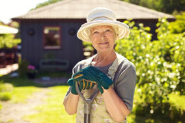 Being functionally fit can help with everyday activities like gardening.