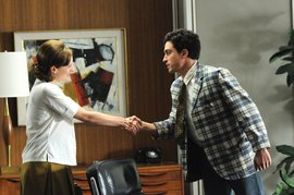 "Ben Feldman '02 (r) got an Emmy nomination for his role on ""Mad Men"""