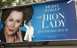 "Billboard for ""The Iron Lady"" (MailOnline, 2012)"