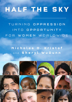 Book cover: �Half the Sky: Turning Oppression into Opportunity for Women Worldwide�