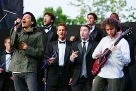 Brandon Boyd, lead singer of Incubus, performs with Ithacapella