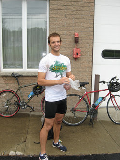Brian Keefe '11 in training for his post-graduation bike ride across America.