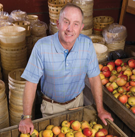Bruce Salinger '72 at his orchard in Putnam County, NY