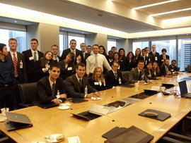 Business Students during NYC Site Visits