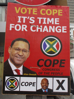 COPE Election Poster, South Africa (2009) (http://www.10and5.com)