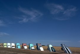 Cadillac Ranch in Amarillo Texas, by Ant Farm