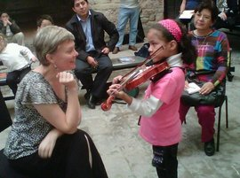 Carrie teaching in Guanajuato, Mexico