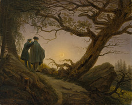 Caspar David Friedrich, Two Men Contemplating the Moon, c. 1830 (Metropolitan Museum of Art, NY)