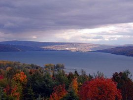 Cayuga Lake in Ithaca, NY
