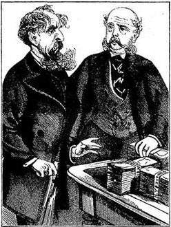 Charles Dickens (left) and George Dolby