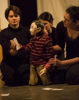 Chava Curland '11 and other IC students performed the puppet star of show together.