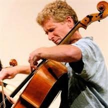 Chris White, cellist, Cloud Chamber Orchestra