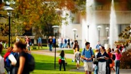 Classes change on the Academic Quad