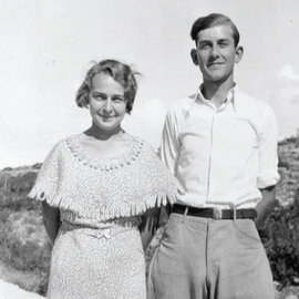 Cleta and Marlo Schermerhorn on their honeymoon