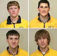 Clockwise, from top left: Andrew Brown '10, Cory Petermann '09, Jeff Wetmore '11, Kyle Devins '11