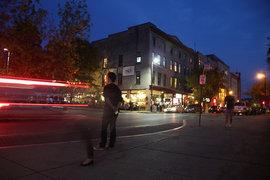 Collegetown after dark