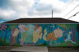 Colorful Where the Wild Things Are Mural Along Route 89