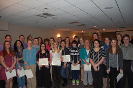 Congratulations to the newest inductees into Lambda Pi Eta, National Communication Honor Society