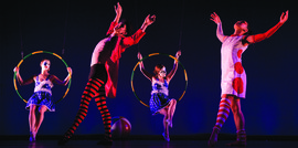 Dancers perform in Illuminated Bodies.