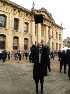 Danielle Costa '05 graduates with her masters degree from Oxford